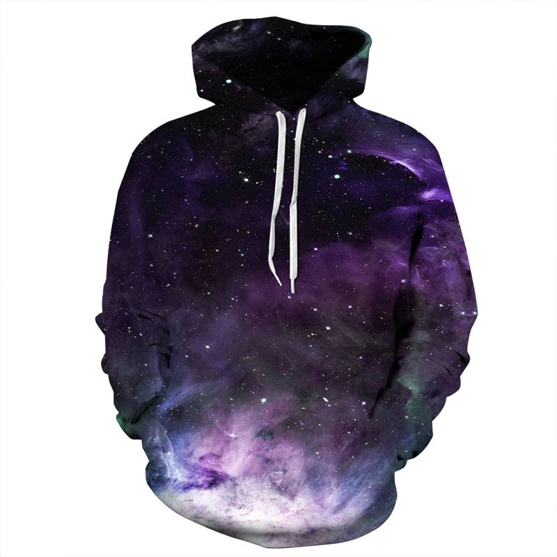 Headbook Space Galaxy Hoodies Women/Men 3d Sweatshirts Print Purple Nebula Clouds Thin Autumn Winter Hooded Hoodies DM162