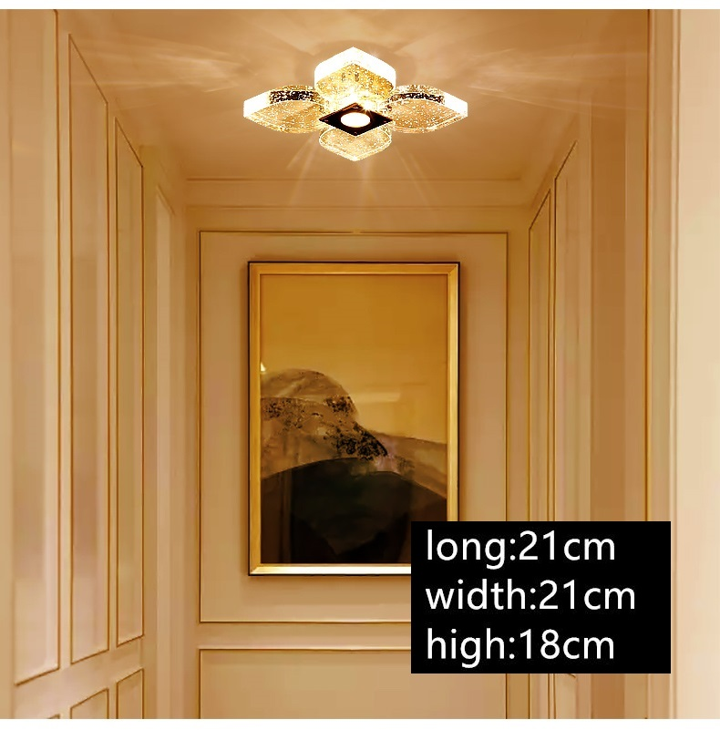 IWHD Crystal Ceiling Lights Home Lighting Fixtures Bedroom Living Room Led Lamp Tricolor dimming Luminaire Plafonnier Lustre