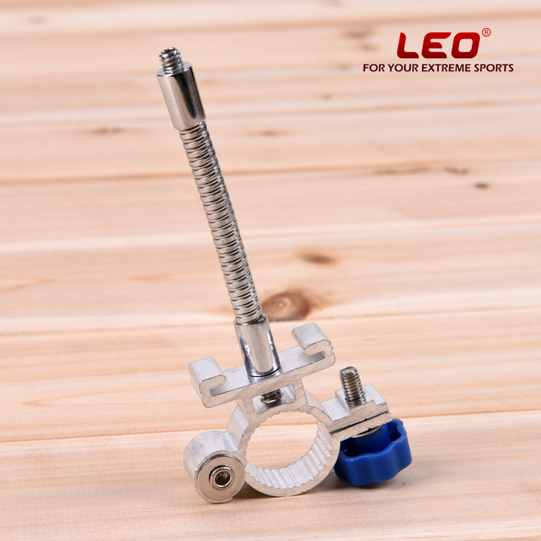 Free Shipping Leo Aluminum alloy night fishing lamp bracket hose fishing chair universal camera holder 23.4mm 67.1oz