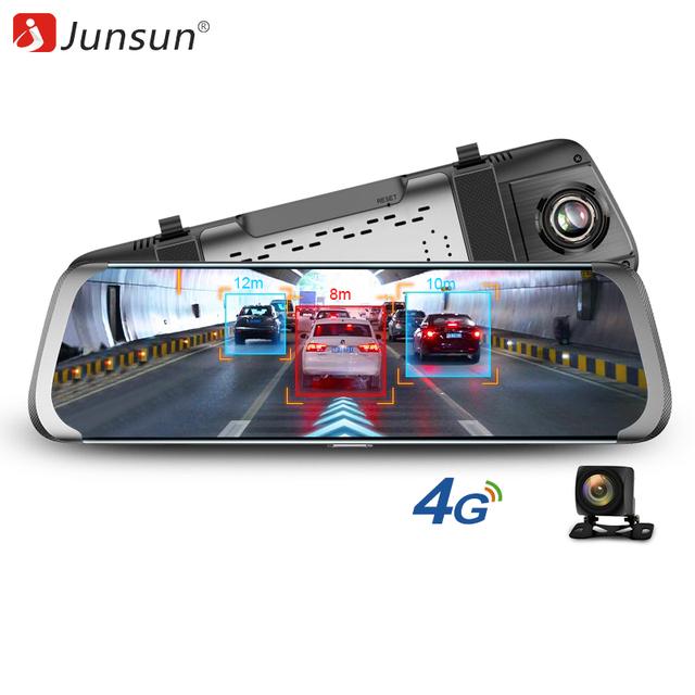 Junsun 4G ADAS Car DVR Camera 10″Android Stream Media Rear View Mirror FHD 1080P WiFi GPS Dash Cam Registrar Video Recorder DVRs