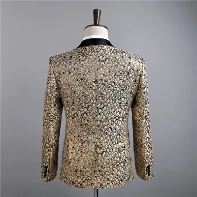 New Star Brand Men Blazer Slim Fit Fancy Blazers Married Korean Men Stage Costumes For Singers Blazers Mens Party Suit - 4
