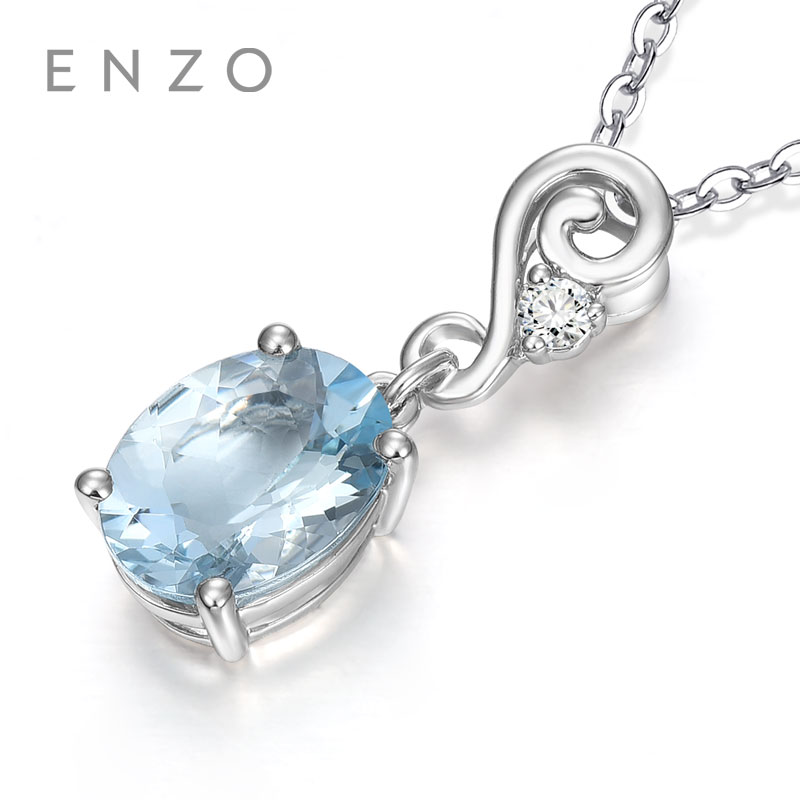 fca601af81fa Comprar Collares colgantes de oro blanco rosa de 18 K genuino con diamantes  y piedras preciosas naturales de ensueño morganita Online Baratos.