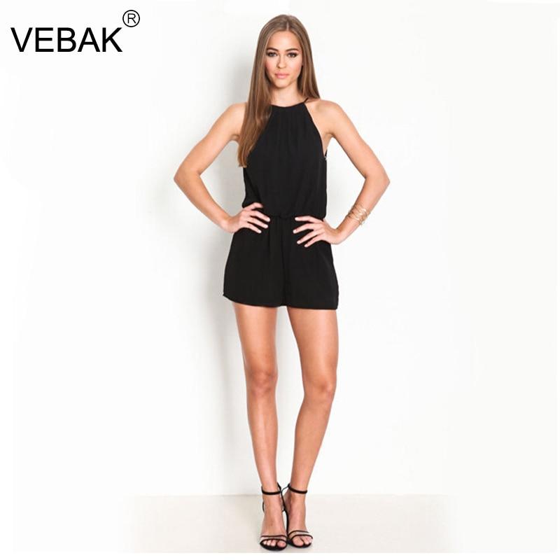 Black Jumpsuit Short Leg | Fashion Ql