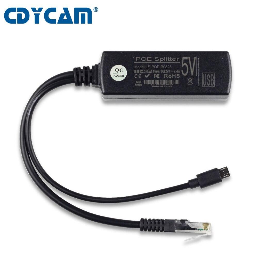 Best Active PoE Splitter Power Ethernet 24V to 12V 2A IEEE802.3af Standard Black