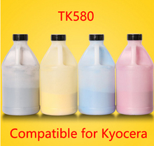 Free Shipping Compatible for Kyocera TK580 for FS-C5150DN Chemical Color Toner Powder  printer color powder 4KG