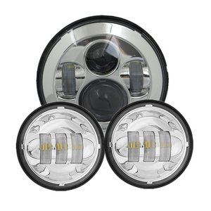"Image 2 - 1ชุดสำหรับHarley Moto 7 ""LEDไฟหน้า4.5"" ไฟLedสำหรับHarley MotoรีไซเคิลMotoรีไซเคิล7 ""อะแดปเตอร์แหวน"