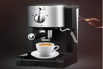 Donlim household espresso cafe machine high-pressure pump italian steam coffee maker 20Bar DLKF500 Cappuccino capsules Milk Foam high quality 2cups foam machine pump pressure espresso electric coffee maker drip coffee machine office