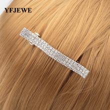 YFJEWE kobiety spinka do włosów akcesoria do włosów akcesoria biżuteria rhinestone akcesoria do włosów moda na co dzień prezent na Boże Narodzenie dla dziewczynek H023 tanie tanio Hairwear Miedzi TRENDY Barrettes Serce alloy inlaying artificial gem half gem Army Green Light gray