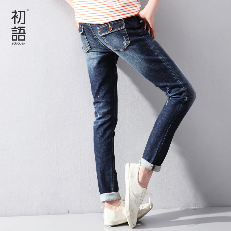 Toyouth Spring New Women Jeans Slim Elastic Straight Trousers Ladies Fashion Full Length Casual Jeans jeans spring new women jeans slim elastic skinny straight trousers ladies fashion full length plus size denim casual pants