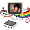 Portable Size 1.8 Inch LCD Screen Display 6th Generation Music Media Video Movie FM Radio MP4 Player Easy Carry