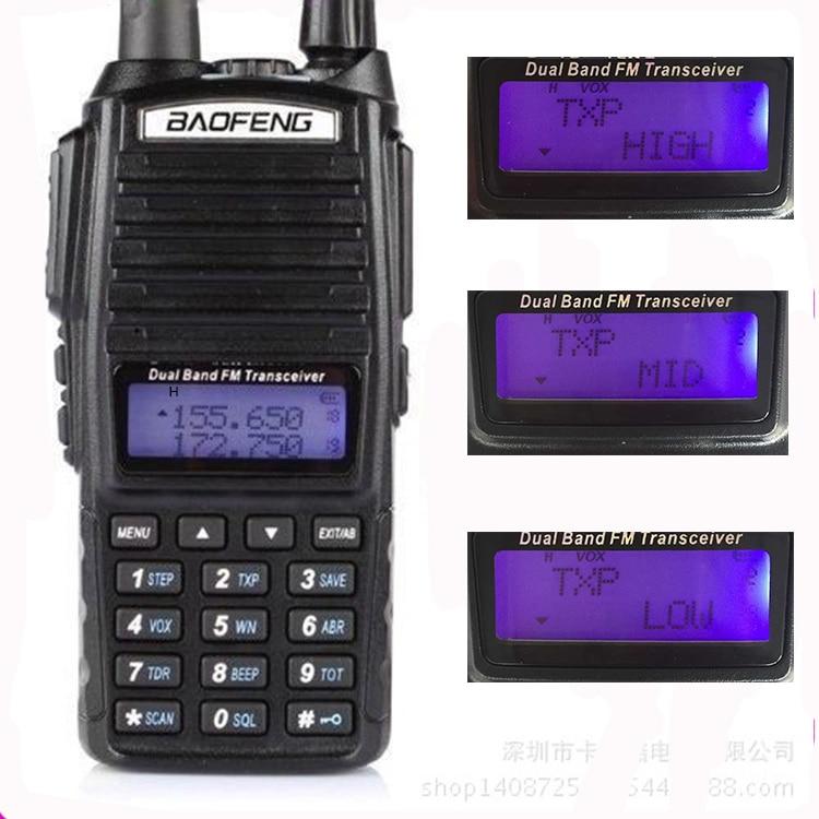 imágenes para 10Km Baofeng Uv-82 Real 8 W Baofeng Con Alta Media Baja potencia UV 82 Estación de Radio de Jamón amateur Radio Portátil Walkie Talkie 10 km