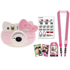 Image 3 - Fujifilm Instax Mini 8 Hello Kitty, ограниченная серия, фотопленка для мгновенной печати, камера + 10 листов котенка, пленки + наклейки + набор ремешков