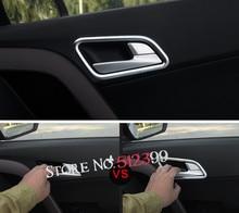 4 шт./компл. Хром Интерьер автомобиля дверные ручки чаши Рамки чехол накладка для Hyundai creta ix25 cantus 2014 2015 2016 2017 автомобиль-Стайлинг