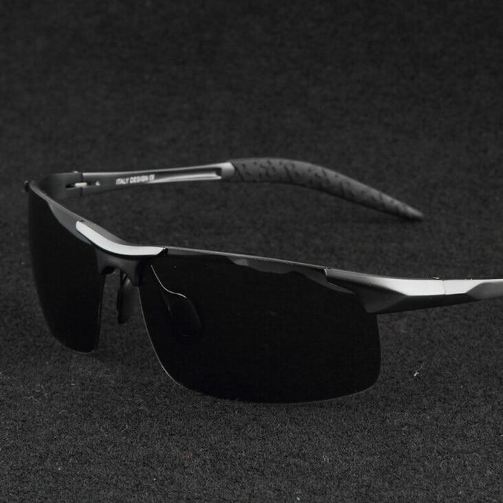 0fd88a3312ff8 2016 Liga de Alumínio E Magnésio óculos de Sol Dos Homens Grife Polarizada  Óculos de Condução Ao Ar Livre Uv400 Gafas de sol Hombre
