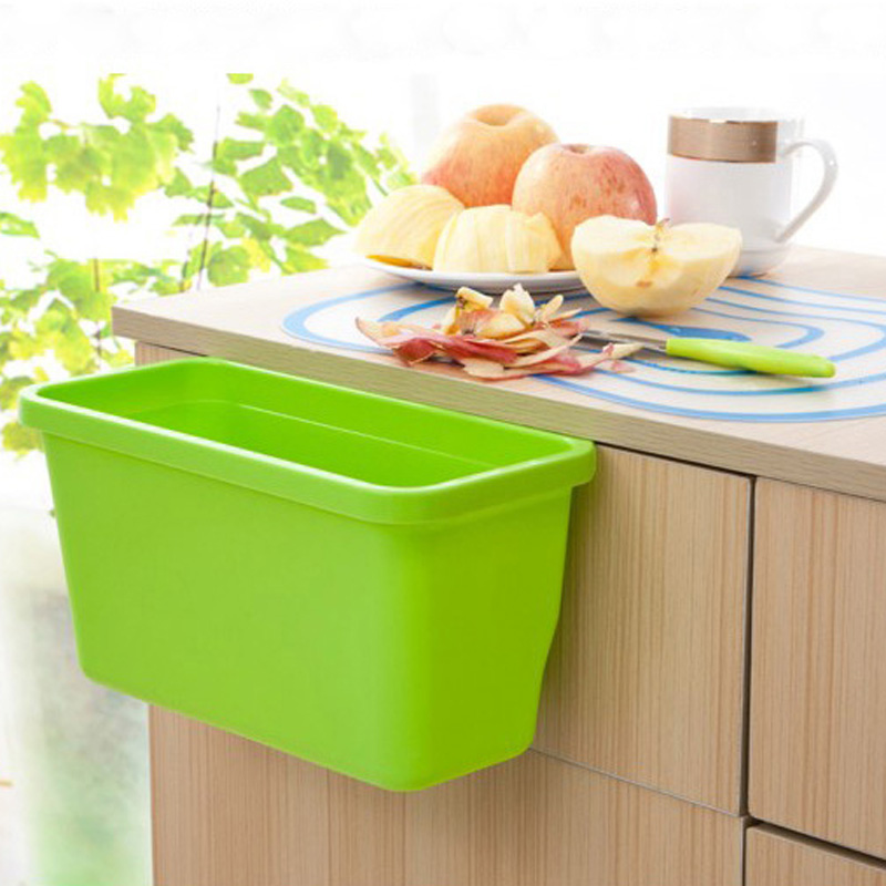 Waste Bins For Kitchen Cupboard Drawer Door New Creative Dustbin Plastic Hanging Storage Box Small Cleaning Tools Lb1839 In From Home