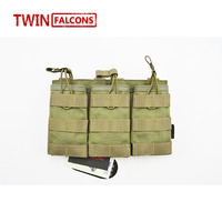 TWINFALCONS 7 62 Pouch MOLLE Triple Magazine Pouch CORDURA Modular Combat Hunting Camping Climb Tactical Hike