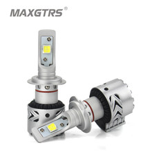 2x High Bright H7 9005 H8 H11 9012 LED Headlight Bulbs Conversion Kit LENS Cree XHP70 Chip Long Lifespan White 72W 6500K 12000LM(China)