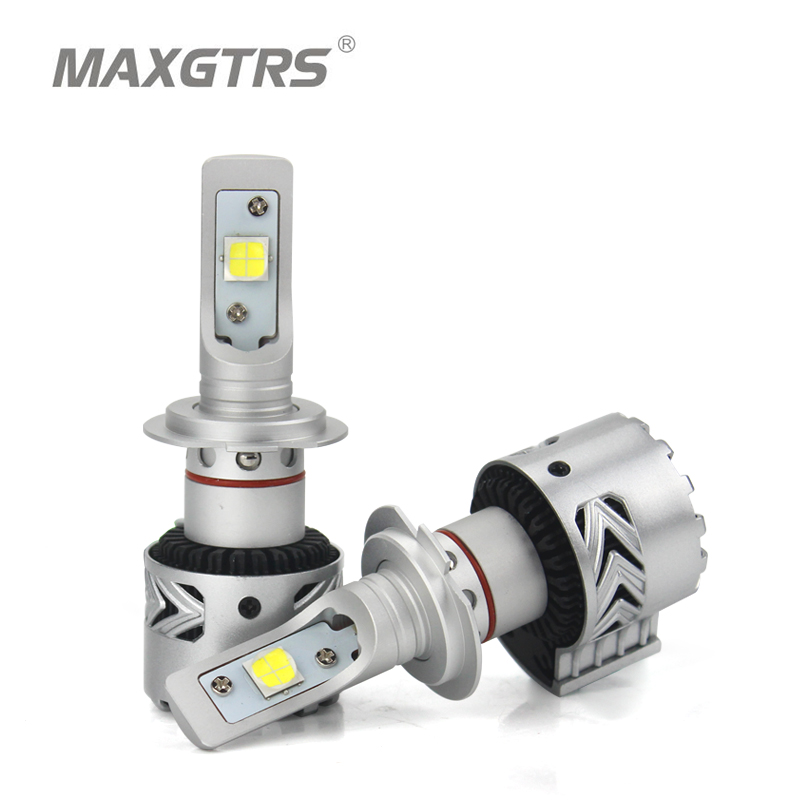 2x High Bright <font><b>H7</b></font> 9005 H8 H11 9012 LED Headlight Bulbs Conversion Kit LENS Cree XHP70 Chip Long Lifespan White 72W 6500K <font><b>12000LM</b></font> image