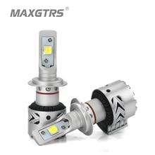 2x yüksek parlak H7 9005 H8 H11 9012 LED far lambaları dönüşüm kiti LENS Cree XHP70 çip uzun ömürlü beyaz 72W 6500K 12000LM