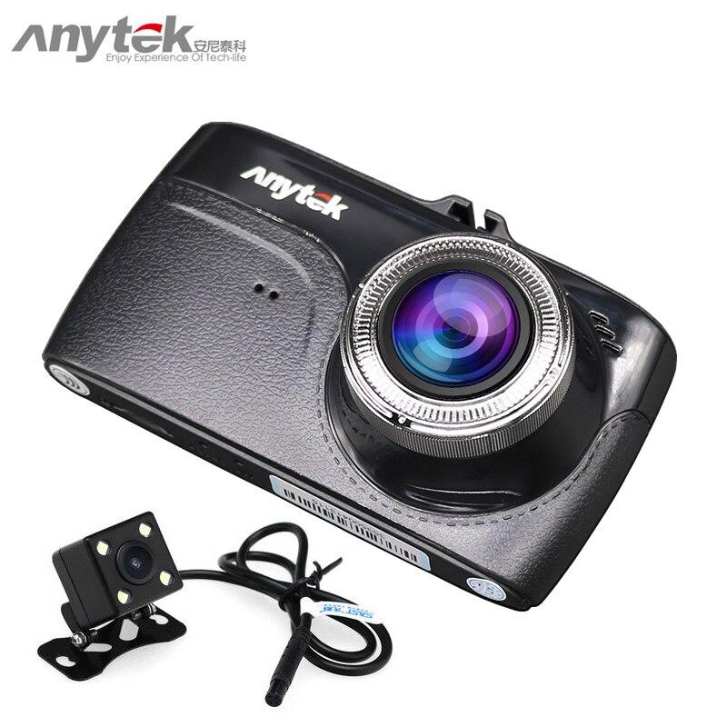 2018 anytek g67 de voiture dvr double lentille 1080 P full hd voiture caméra sony imx323 dash cam novatek 96655 vidéo enregistreur greffier