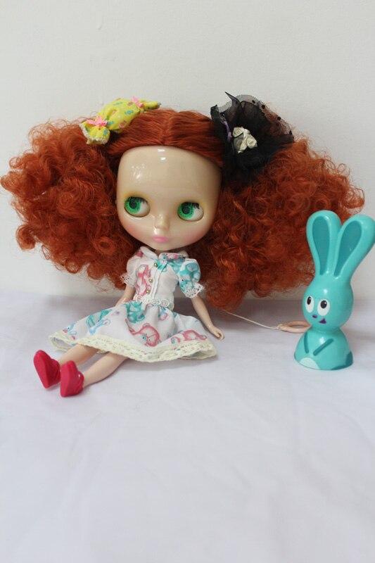 Бесплатная доставка Прозрачный rbl-187t DIY ню blyth кукла подарок на день рождения для девочек 4 цвета большие глаза с красивые волосы милые игрушк...