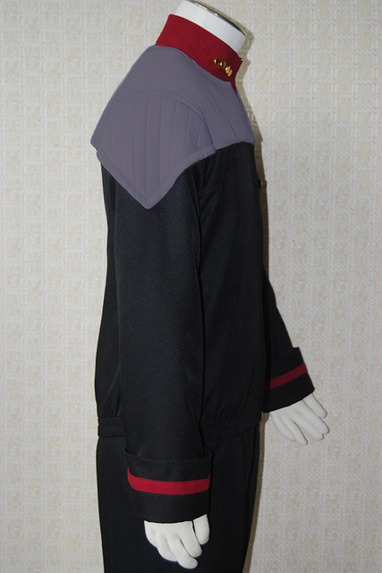 Star Trek NEM Duty Uniform Halloween Cosplay Costume Coat Jacket+shirt+badge Full Set Uniform Halloween Carnival Men 2