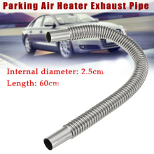 60cm Car Exhaust Pipe Parking Air Heater Tank Diesel Gas Vent Hose Automobile Exhaust Pipe Corrugated Round Pipe