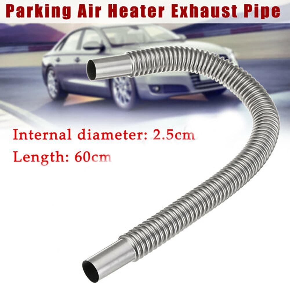 Tuyau d'échappement de voiture de 60cm réservoir de réchauffeur d'air de stationnement tuyau d'évent de gaz Diesel tuyau d'échappement d'automobile tuyau rond ondulé