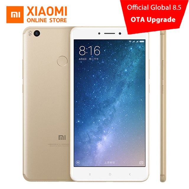 "Оригинал Сяо Mi Max 2 Max2 смартфон 4 ГБ 128 ГБ 5300 мАч 6.44 ""Snapdragon 625 Octa core 1080 P 12MP QC 3.0 Andriod 7.0 OS"