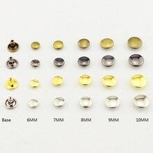 100 шт Круглые двухсторонние заклепки для ногтей, Спайк-мешок, пояс для одежды, металлический браслет для поделок, Кожевенная обувь, заклепки для кожи