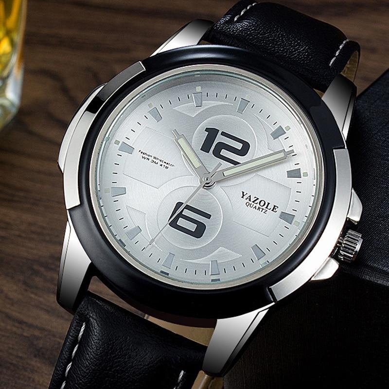 2018 YAZOLE Men's Luminous Watches Men Waterproof Sport Watch Men Watch Brand Men's Watch Clock saat reloj hombre montre homme цена