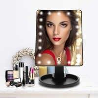 Miroir de luxe professionnel de miroir de maquillage de écran tactile LED avec les lumières 16/22 LED miroir réglable de maquillage de Table de 180 degrés