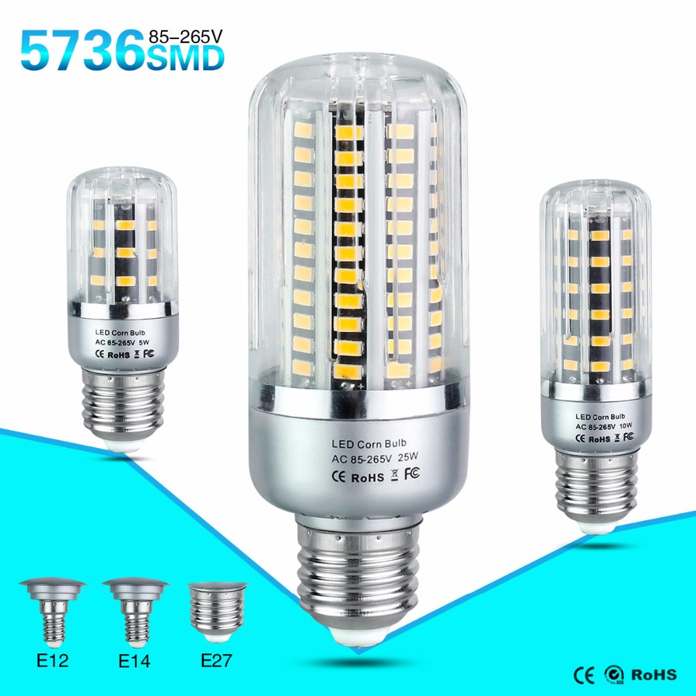 led bulb lamp e27 e14 e12 85265v smd 5w 10w 15w 20w 25w light bulbs lampada led diode lamps energy saving lights for home - E12 Led Bulb