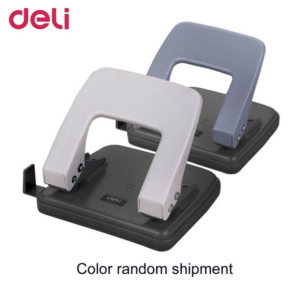 Deli 0104 Portable Heavy Duty Punch Manual Design School Office Supplies 6MM Paper Depth Paper Punching Machine DropShipping deli manual heavy duty stapler 50 pages thick repair book make book staplers school office binding machine supplies dropshipping