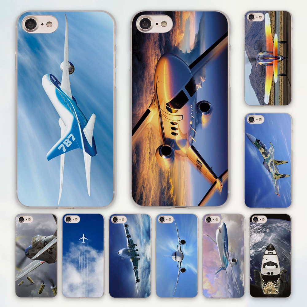 fighter propeller plane aircraft airplane design hard clear Case Cover for Apple font b iPhone b