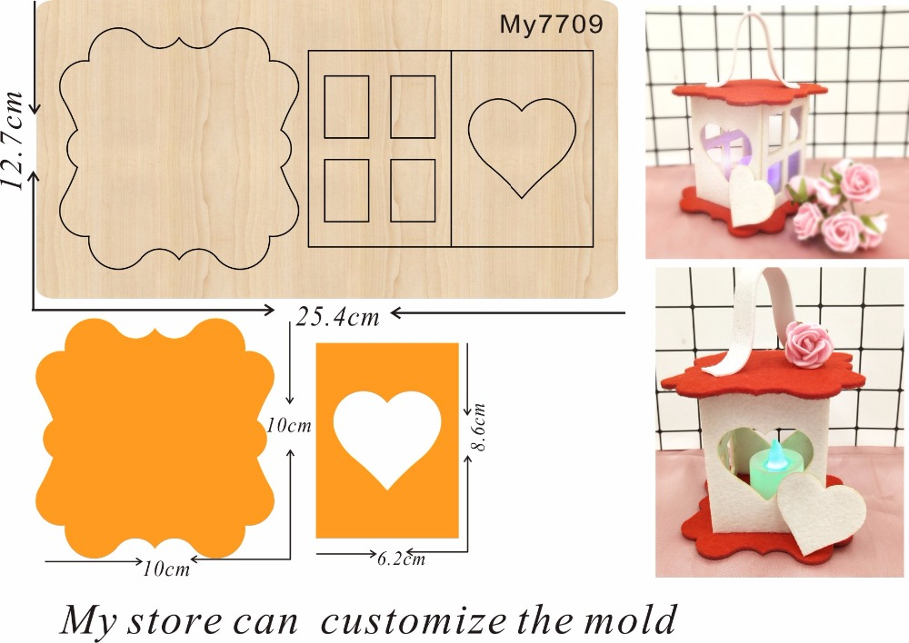 Lantern family party decoration 14 new wooden mould cutting dies for scrapbooking Thickness 15 8mm
