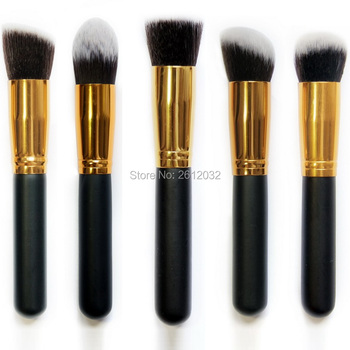 Professional Cosmetic Make up Powder Foundation Brush Blush Angled Flat Tapered Top Base Liquid Cosmetic Makeup Brush Tool
