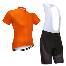 цена на 2019 New Summer Orange Cycling Team jersey MTB Bike Bicycle Shorts Sleeve Set Breathable Quick Dry Ciclismo Mens Maillot Ropa