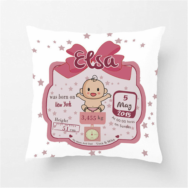 Nursery Pillowcases Personalized Baby Pillow Case Decorative Throw Pillows For Kids Bedding Custom