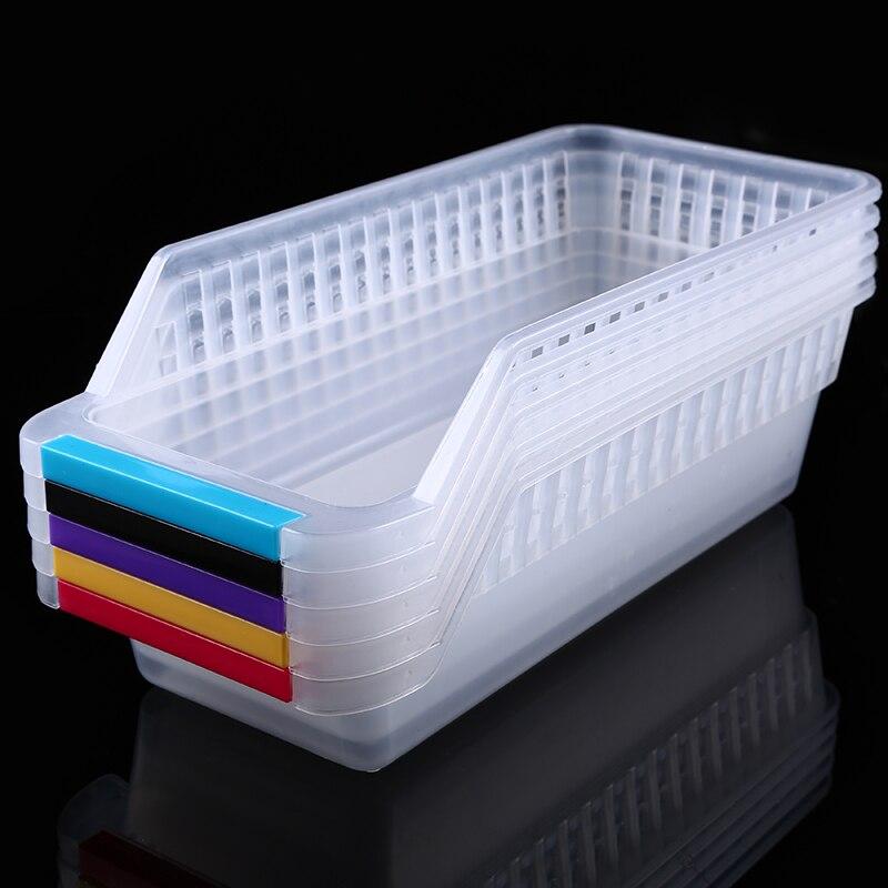 WHISM Plastic Kitchen Refrigerator Storage Baskets Fridge Freezer Shelf Holder Large Capacity Freezer Organiser Space Saver-in Storage Baskets from Home ... & WHISM Plastic Kitchen Refrigerator Storage Baskets Fridge Freezer ...