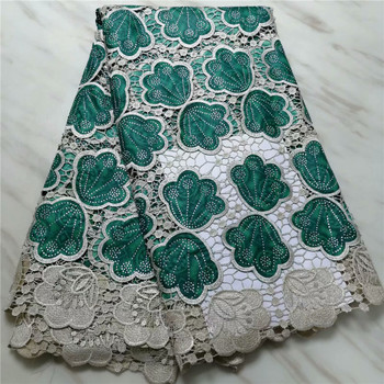 High Quality African Lace Fabric African Ankara  Prints Fabric With Embroidery Nigerian Lace For wedding dress pl14-65