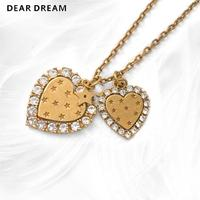 Hot Sale Fashion Luxury Metal Double Love Star Letter Necklace New Coming For Birthday Wedding Gift