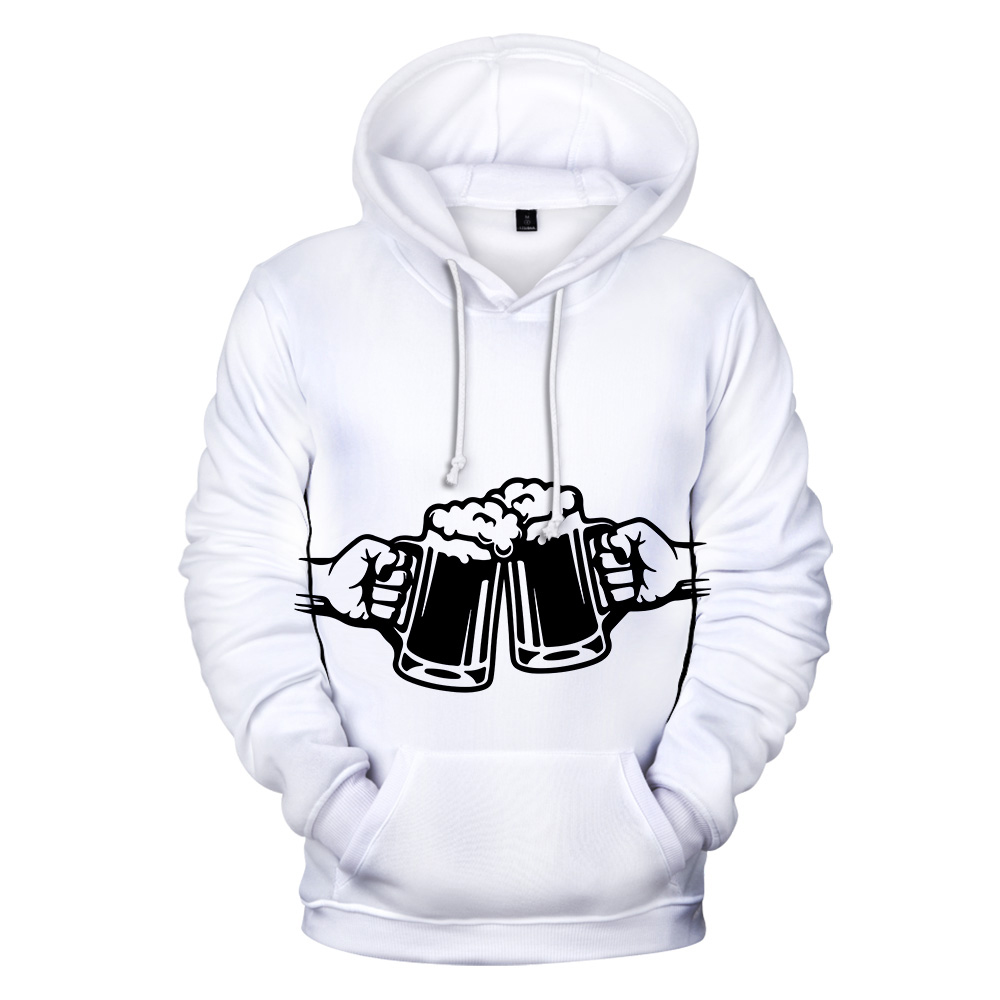 2019 Latest Classic Print Beer 3D Hoodies Men Women Autumn Fashion Casual Popular Sweatshirts 3D Print Beer Men's Hoodie Clothes