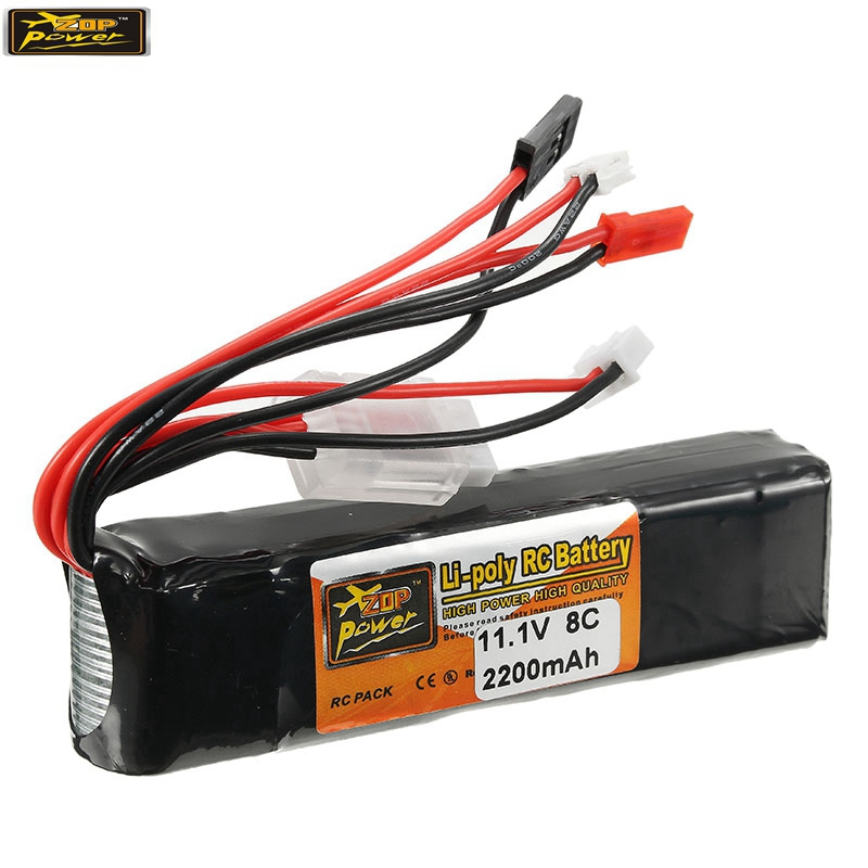 New ZOP Power 11.1V 2200mAh 3S 8C Lipo Battery JR JST FUBEBA Plug for Transmitter Batteries for RC Helicopter Spare Parts Accs 6ch 500ma usb to 3 7v 5v 2a 1s lipo battery charging adapter board for rc helicopter batteries spare parts accessories accs part