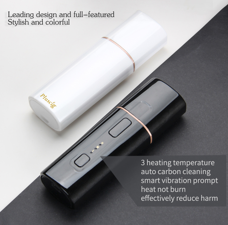 SMY Pluscig B3 Box Shape cigarette 1300mah Battery Electronic Cigarette Vape heating Tobacco compatibility with iQOS stick 2pcs