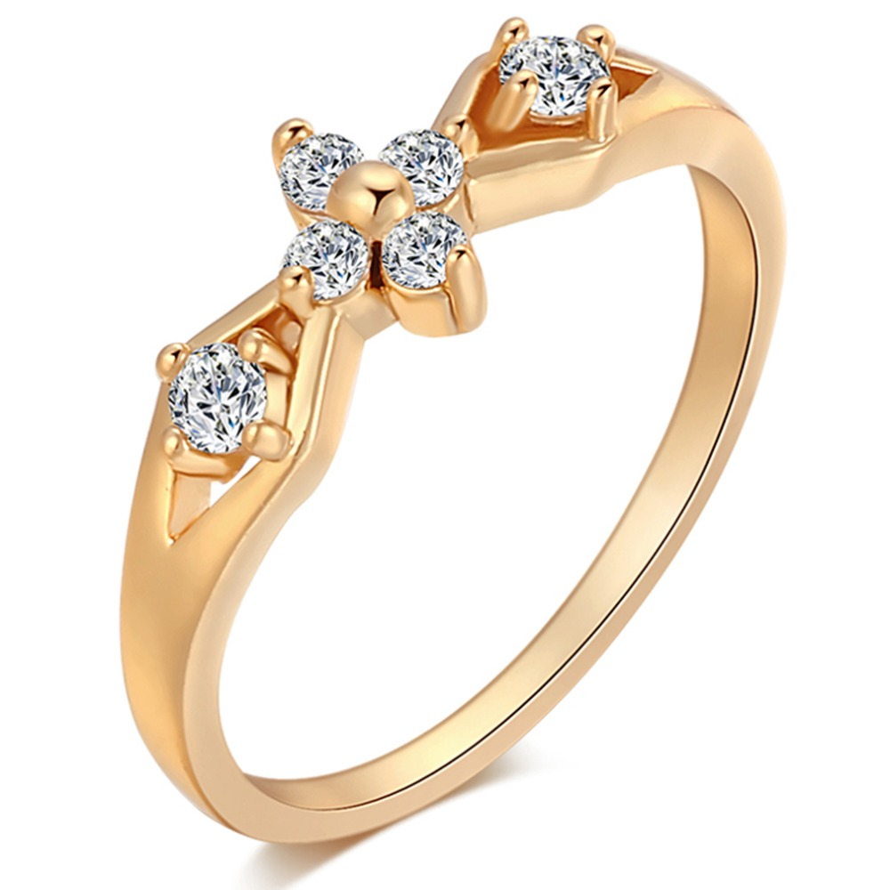 Stylish Fashion Women Ring Finger Jewelry Gold Color Austrian Crystals Rings cherry shape stone Rings top quality Jewelry