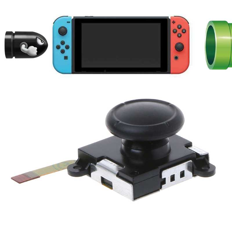 Sensitive 3D Analog Sensor Comfortable Joystick For Nintendo Switch NS Joy-Con Controller