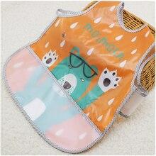 EVA Bibs Do Bebê ajustável de Plástico À Prova D' Água Almoço Alimentação Babadores Alimentação Do Bebê Dos Desenhos Animados Crianças Pano Do Bebê Avental Babador de bebe