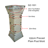 100cm (39.37in) ABS General Use Balcony & Home Gardening Durable Plain Precast Concrete Post Construction Mold