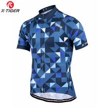 X-Tiger 100% Polyester Summer Cycling Jersey Maillot Ropa Ciclismo Man's Mountain Bike Clothing Quick-Dry Bicycle Sportswear